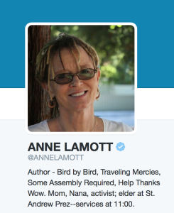 Anne Lamott on Twitter