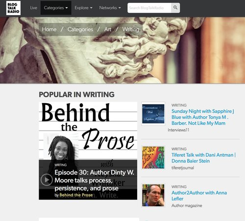 Dinty W. Moore hit #1 on writing shows on BlogTalkRadio in November.