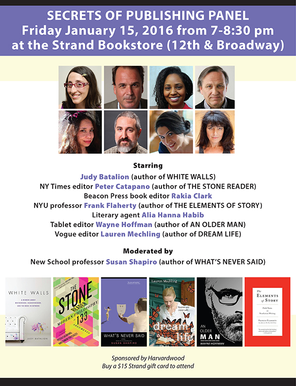 Secrets of Publishing Panel on 1/15/2016