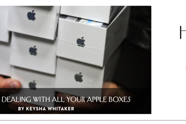 Image of a stack of apple boxes!!