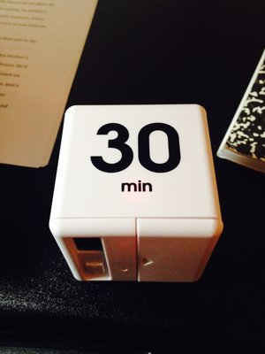 The timer used by Geeta Kothari for her Pomodoros.